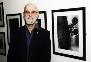 Member Roger Tyler with his print of Harley Davidson detail
