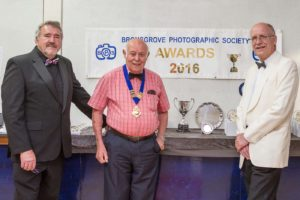 L to R Roger Lewis Chair, Barry Green President and Nigel Taylor Competition Sec